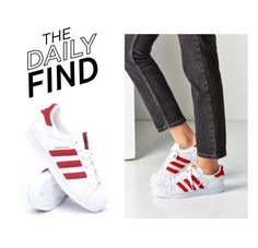 """""""The Daily Find: Adidas Chenille Superstar Sneakers"""" by polyvore-editorial ❤ liked on Polyvore featuring adidas and DailyFind"""