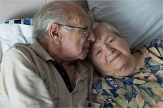 Elderly Couple on Bed (C) Maundy Mitchell Elderly Couples, Old Folks, Iris, Portrait, Couple Photos, Bed, Couple Shots, Irise, Older Couples