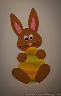 Löysin nettiä taas selaillessani kivan pupun mallin. Muokkasin löytämääni mallia hieman erilaiseksi ja niin syntyi pääsiäismunan takaa kurk... Easter Art, Easter Crafts For Kids, Toddler Crafts, Easter Bunny, Farm Crafts, Bunny Crafts, Spring Art, Spring Crafts, Art Education Projects