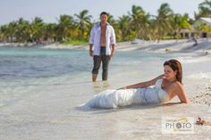 Private beach where we had our trash the dress session;)