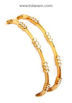 Diamond Bangles in 22K Gold