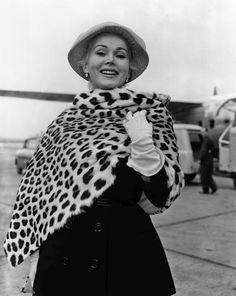 Hungarian-American actress Zsa Zsa Gabor arrives at Heathrow, 1956. | 41 Vintage Pictures Of Heathrow Airport That Show Air Travel Was Once A Stylish Affair
