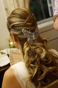 Beautiful hair style for butterfly theme wedding!