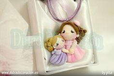 Collar mamá Lalyta e hija by Dulce decoración (modelado - tartas decoradas), via Flickr