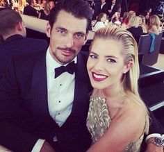 David Gandy and Mollie King 2014