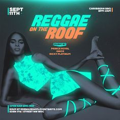 Flyers for Reggae on the Roof on Behance