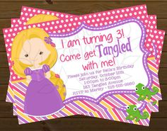 Digital Birthday Party Invitation  Rapunzel by babyfables on Etsy