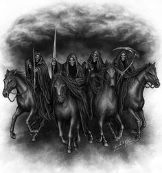 Quatre cavalier de l'apocalypse tatoo