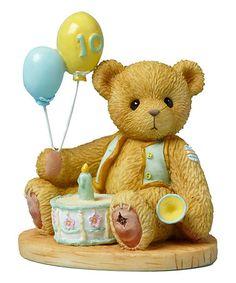 Love this Cherished Teddies Tenth Birthday Bear Figurine on #zulily! #zulilyfinds