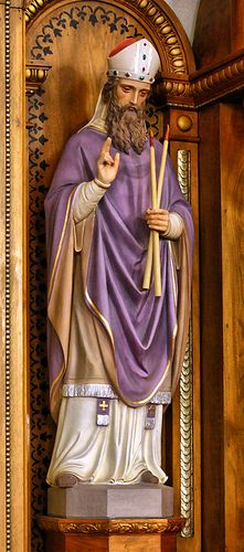 Saint Blaise - Patron Saint of wool combers,domestic animals, helps against diseases of the throat; Attributes: two crossed candles, wool comb Feast Day, Feb. Catholic Religion, Catholic Saints, Patron Saints, Roman Catholic, Saint Blaise, Saints Days, Spiritual Images, Faith In Love, Persecution