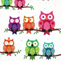 Colourful-Owl-Patterned-Paper-Lunch-Napkins-x-20
