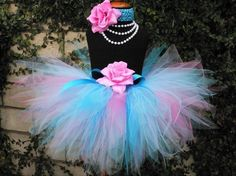 Pink Blue Tutu  Bubblegum Sweetness  Custom SEWN by TiarasTutus, $30.00