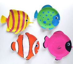 Tropical Reef Fish   Paper plate crafts are a favorite with my kids. Make these colorful fish this weekend!