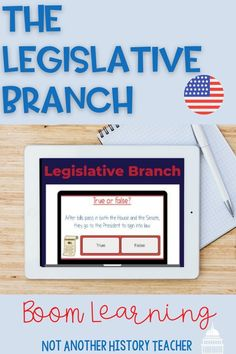 This is a 13 slide boom deck on the Legislative branch. There are two slides of reading about the House and the Senate followed by matching, true-false, and fill-in-the-blank questions. This is a fun and interactive boom sure to enrich their background of the legislative branch.