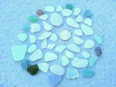 Medium Sea Glass Set, Jewelry Materials, Mediterranian Glass, Beach Glass, Jewelry Supplies, Beach Stones, Glass For Pendants di Mughetto su Etsy