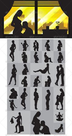 Pregnant Silhouettes - People Characters