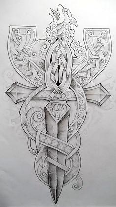 Celtic Cross2 by Tattoo-Design.deviantart.com on @deviantART