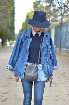 denim and the blues #streetstyle happens