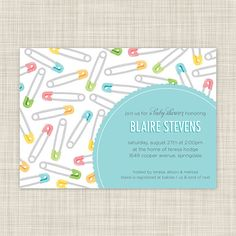 Custom Baby Shower Invitations & Invites  by inkwelldesignstudio, $18.00