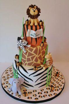 Animal Jungle Safari Theme Kids Birthday Party Cakes and Cupcakes - Mumbai Safari Birthday Cakes, Jungle Theme Cakes, Safari Cakes, First Birthday Cakes, Safari Theme, Safari Party, Jungle Safari, Cupcakes, Cupcake Cakes