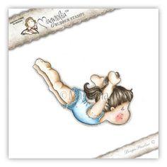 """Magnolia Stamps """"Diving Tilda"""" Rubber Stamp"""