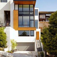 Colores para fachadas modernas de dos pisos