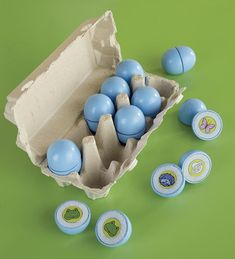 "This clever springtime version of the classic memory game is oodles of fun for kids, who will get a kick out of ""cracking open"" the eggs to see if they've found a matching pair of animals. The game includes 10 blue eggs in a cardboard egg carton. Easter Gifts For Kids, Easter Toys, Easter Ideas, Easter Bunny, All Toys, Kids Toys, Children's Toys, Easter Party Games, Egg Game"