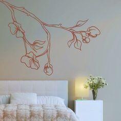 Naklejka jednokolorowa - Gałąź | Singlecolor decorative sticker - Brunch | 27,49 PLN #naklejka #dekoracja #dekoracja_ściany #gałąź #dekoracja_domu #wall_decal #sticker #brunch #pattern #home_decor #interior_decor