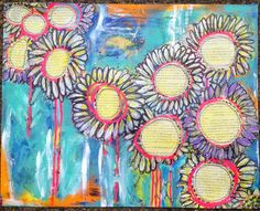 Mixed-Media Daisy Collage: Made By Nicole