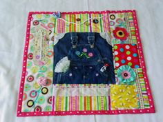 Image detail for -... Overalls - Fidget Quilt - Tactile Activities - Bright & Cheery - Fun