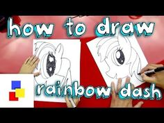 How to draw rainbow dash my little pony equestria girls-rainbow rocks - YouTube