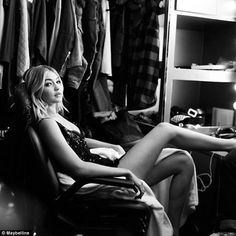 Gigi Hadid, 20, has  been unveiled as the star of a new beauty campaign and showcases her ...