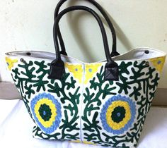 Ethnic Vintage Suzani Embroidery Bag Tote Shoppers bag beach bag traveller bag on Etsy, US$ 80.00