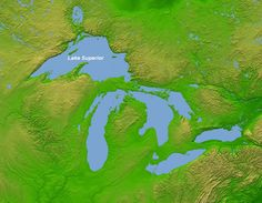 All 5 Great Lakes - Superior, Michigan, Huron (and Georgian Bay), Erie and ontario