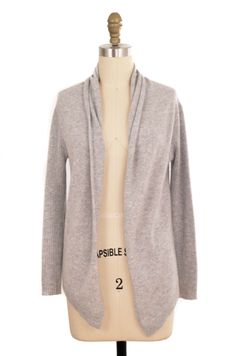 Barneys Co-op Grey Cashmere Cardigan | ClosetDash  #barney #cardigan #sweater #fashion #style