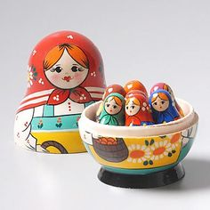 Mother & Children Russian Counting Dolls