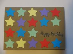 Star Happy Birthday Card  multicolour by MegansPaperCreations, $3.25