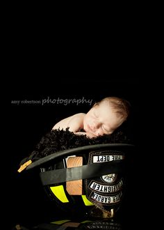 firefighter baby photo idea....or maybe a State Trooper hat?!