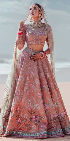 30 Exciting Indian Wedding Dresses That You'll Love Indian Wedding Gowns, Desi Wedding Dresses, Indian Bridal Outfits, Indian Bridal Lehenga, Indian Bridal Fashion, Indian Bridal Wear, Indian Wedding Dresses Traditional, Indian Wedding Clothes, Indian Wedding Bridesmaids