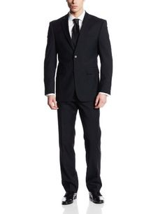 Nautica Men's Two-Button Side-Vent Classic-Fit Suit With Flat-Front Pant