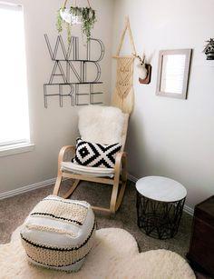 Wild and Free: a Boho Desert Chic Gender Neutral Nursery for your Newborn #nurseryideas #decoratingideas #newbornroom See more inspirations at http://www.circu.net