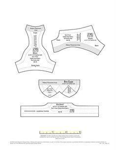 Swim wear pattern for barbie Barbie Sewing Patterns, Sewing Dolls, Doll Clothes Patterns, Sewing Patterns Free, Clothing Patterns, Pattern Sewing, Pattern Drafting, Doll Patterns, Sewing Bras