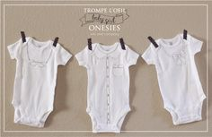 loving these baby onesies! perfect for a baby shower gift. free printable and directions at kiki and company.