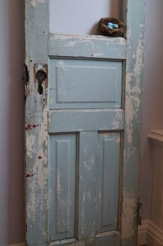 Chateau Chic - Blue Distressed Door