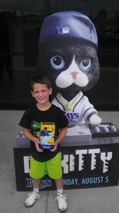 DJ Kitty made his way around Tampa Bay again today. He stopped by the Pinellas Park Place Movie Theater and posed with fans. Kids can get their own DJ Kitty at the Trop on Sunday.