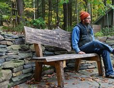 West Ohayo Mountain Bench Ecological by grayworksdesign on Etsy, $2000.00