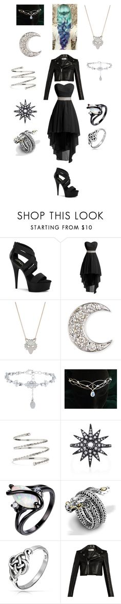 """Wolf - Dressy"" by kiko374 ❤ liked on Polyvore featuring Pleaser, Ginette NY, Sydney Evan, Accessorize, Venus, Shay, John Hardy, Bling Jewelry and Yves Saint Laurent"