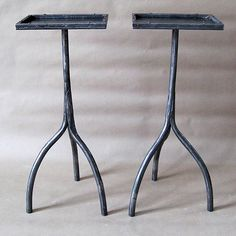 A pair of sweet industrial style gunmetal steel side tables with rimmed rectangular tops. Riveted edges These are made by us here in Connecticut. Price is for the pair. They can also be purchased individually. Pedestal Table, Furniture Design Modern, Side Table, Industrial Style, Rectangular, Drink Table, Apartment Style, Modern Furniture, Forging Metal