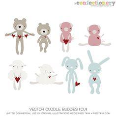 SHCO Confectionery - CU - Vectors - Vector Cuddle Buddies {CU} --EXCLUSIVE-- Join at http://www.sugarhillco.com/cc