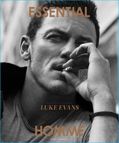 Luke Evans covers the November 2016 issue of Essential Homme.